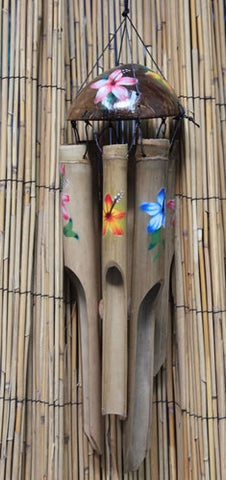 Bamboo Flower Wind Chime