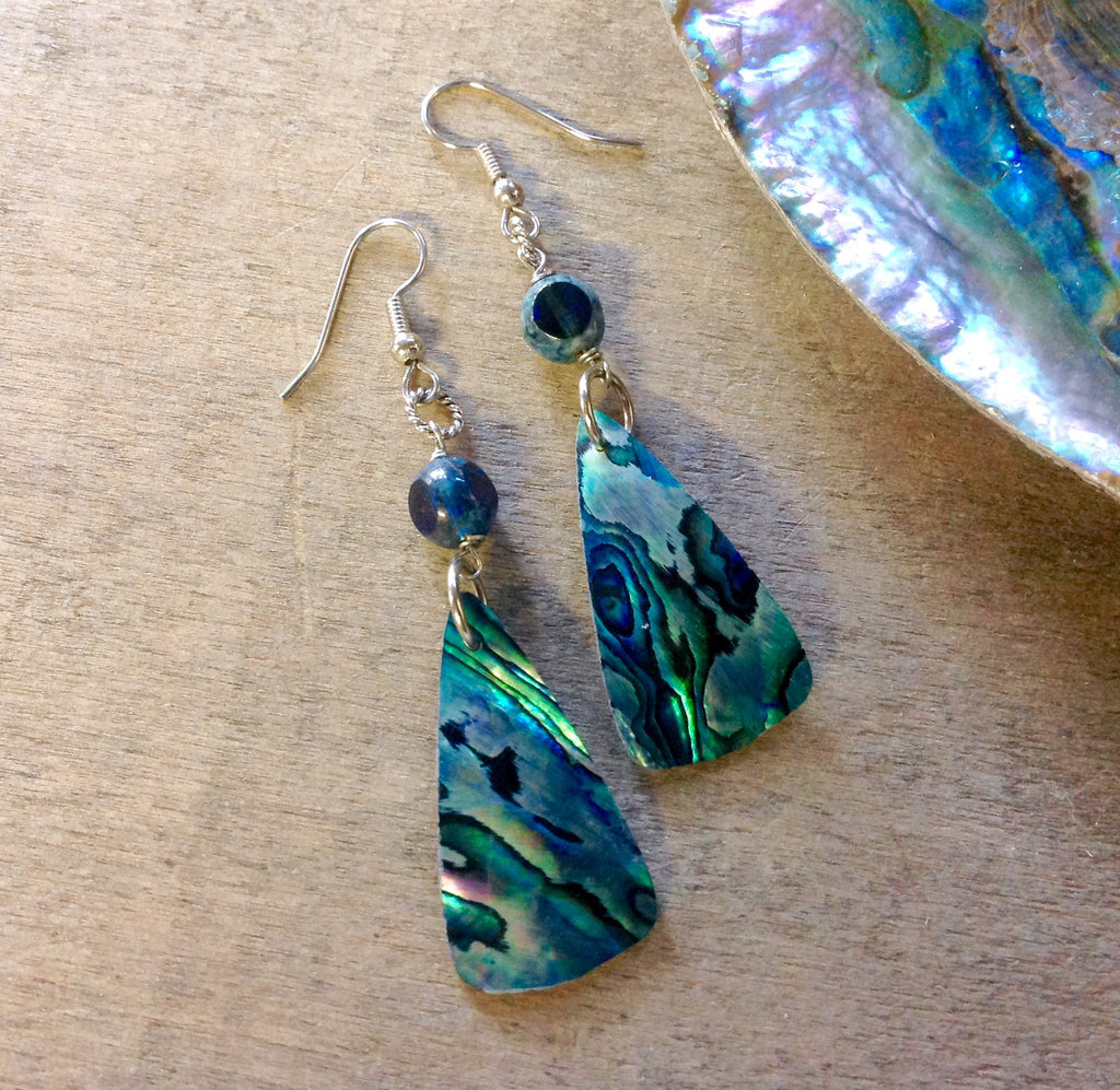 Mermaid Scale Abalone Earrings