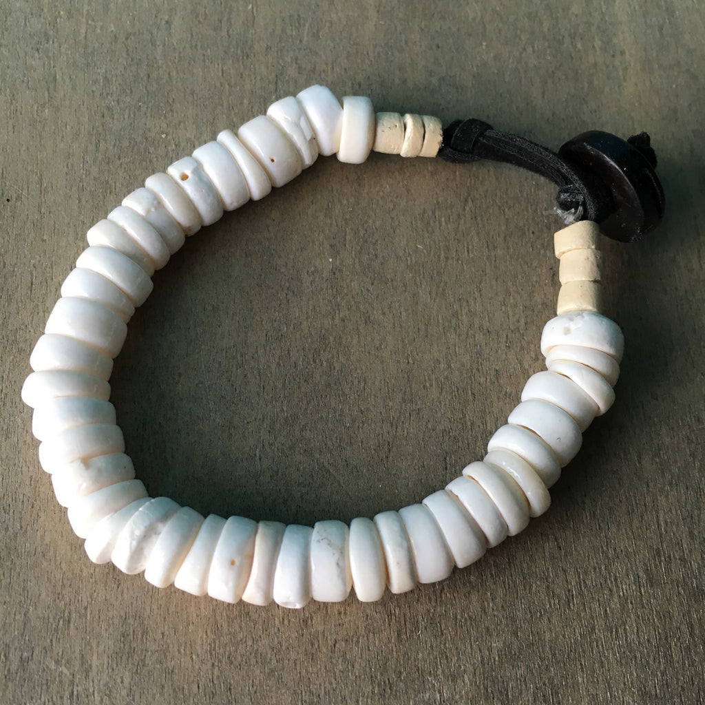 Button Puka Shell Bracelet
