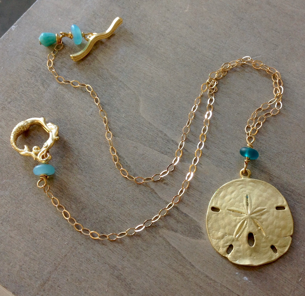 Sanddollar Gold Necklace