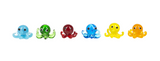Mini Glass Octopus Charms