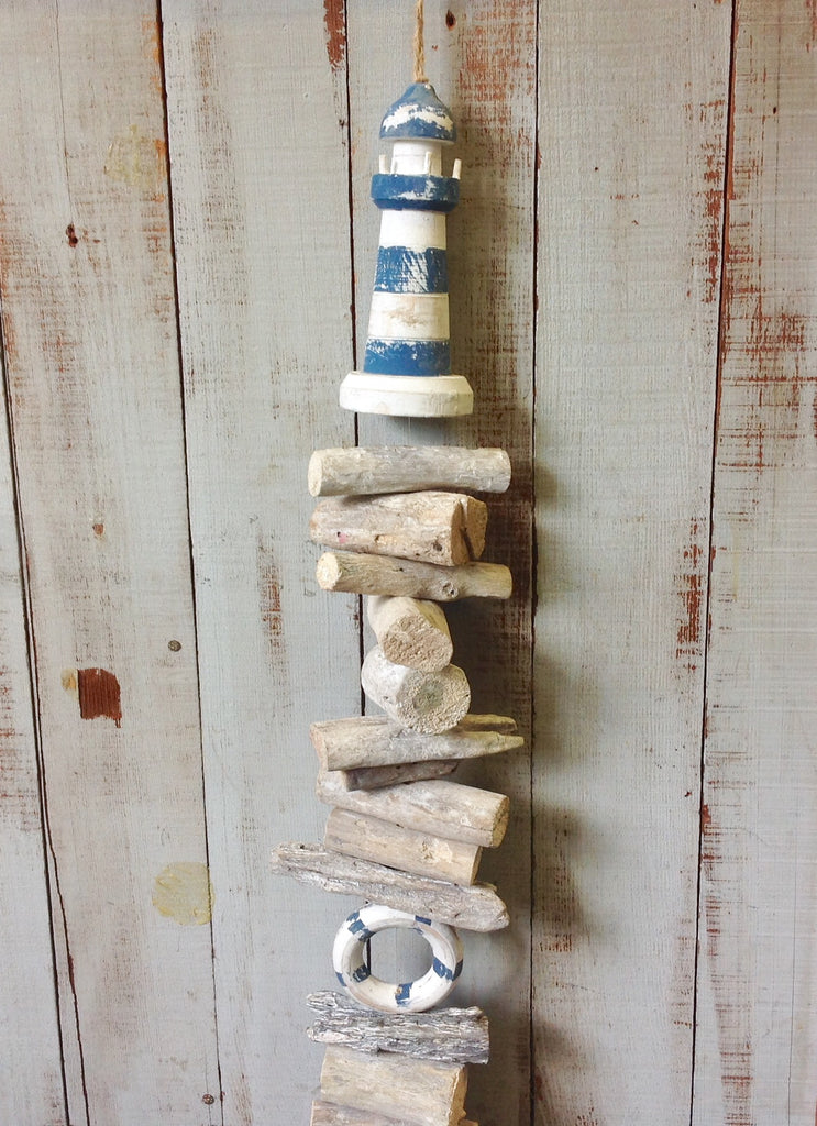 Lighthouse Driftwood Mobile
