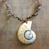 Nautilus Sea Glass Necklace