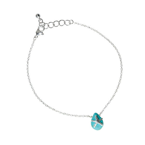 Starfish Howlite Drop Anklet
