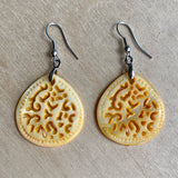 MOP Shell Carved Earrings
