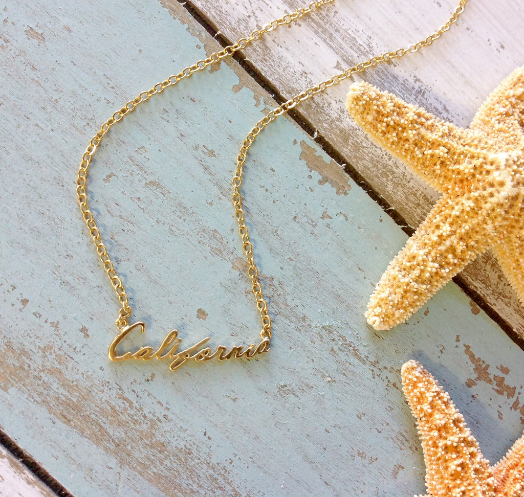 California Gold Necklace
