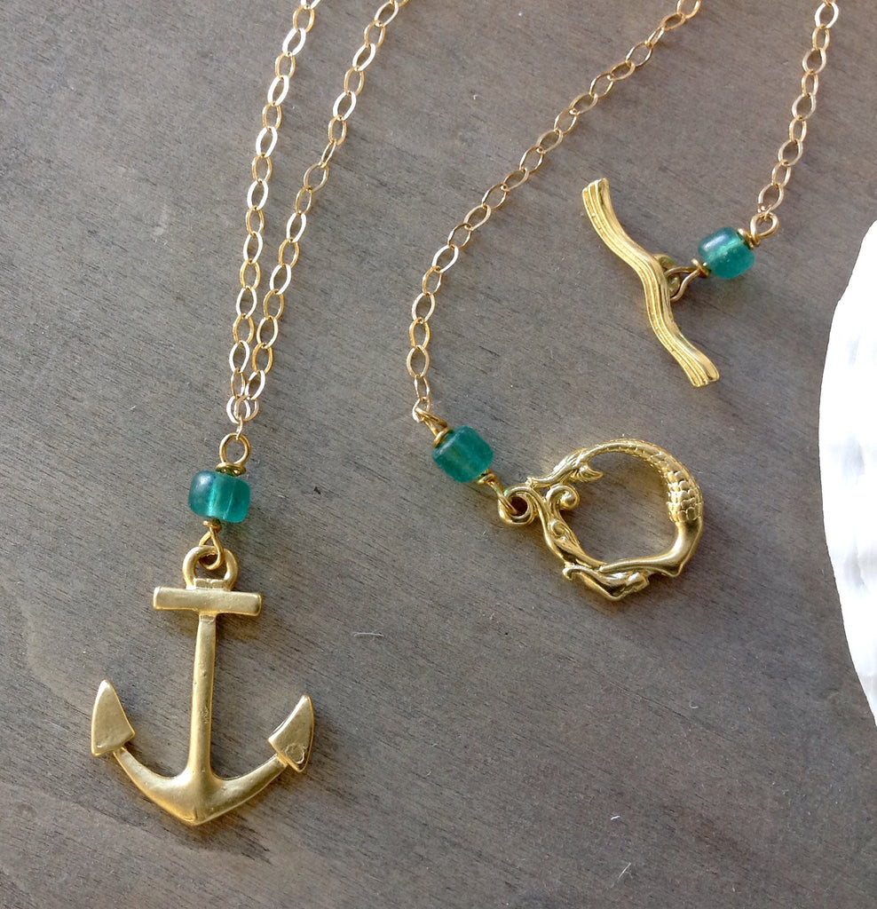 Anchor Gold Necklace