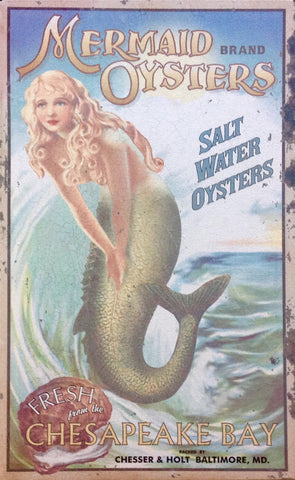 Lighted Mermaid Oysters Sign
