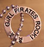 Girl Pirates Rock Necklace