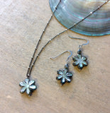 Black Flower Jewelry set