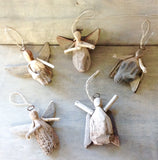 Dancing Driftwood Angel Ornaments
