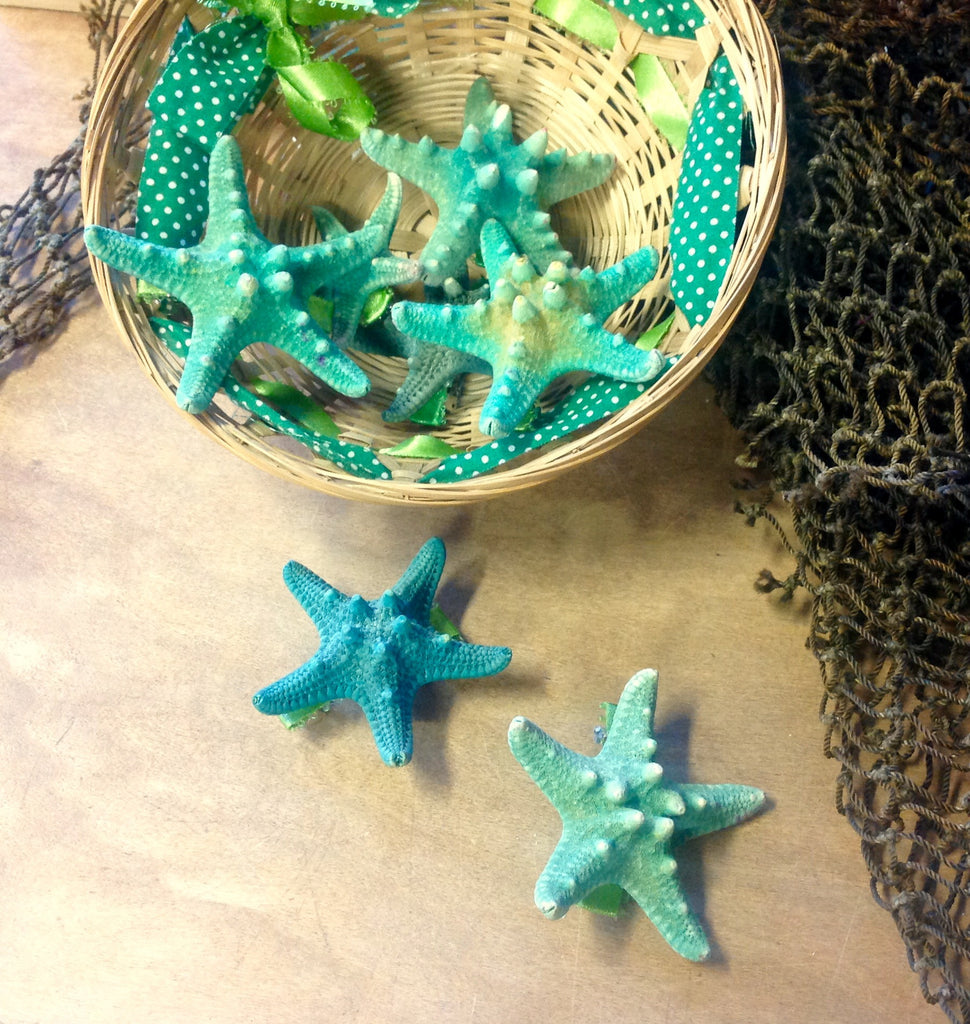Sea Green Seastar Hair Clip