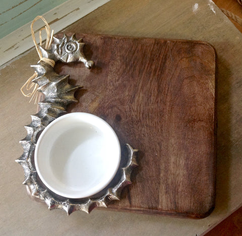 Seahorse Cutting Board & Cup Set
