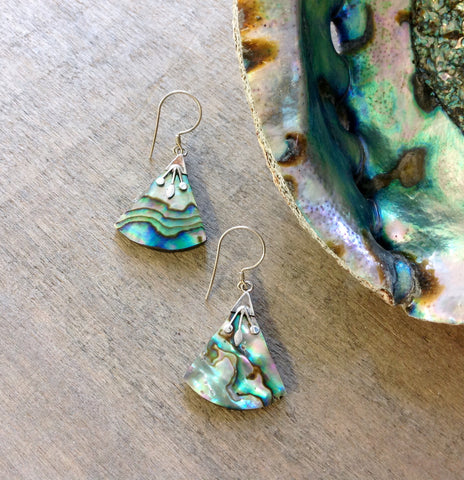Abalone Triangle Earrings