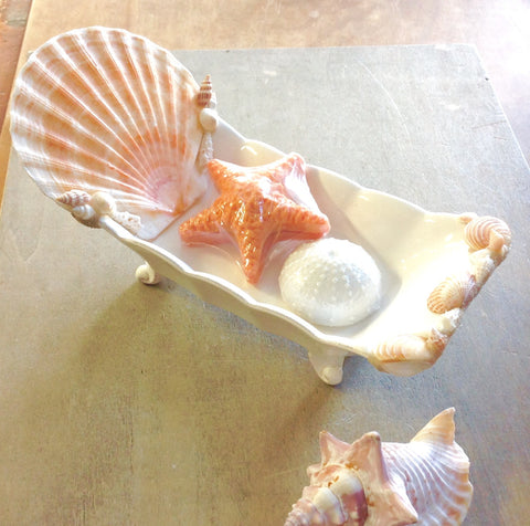 Ceramic & Shell Soap Dish