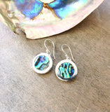 Abalone Coin Earrings