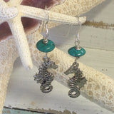 Seahorse Love Pewter Earrings