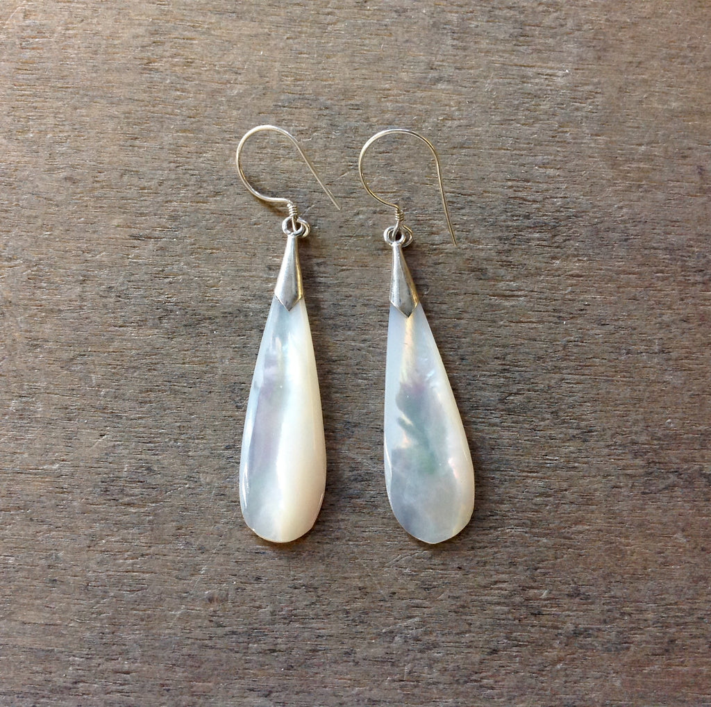 Rain Drop Mother of Pearl Earrings