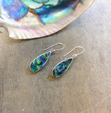 Abalone Filigree Edge Rain Drop Earrings