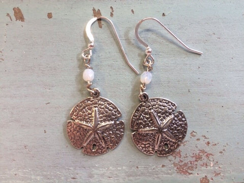 Sand Dollar Love Earrings