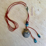 Shell Dolphin Silk Necklace
