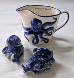 Cobalt Octopus Salt & Pepper Shakers