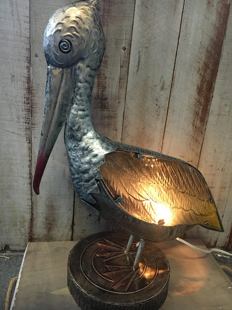 Pelican Lighted Statue