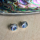 Abalone Inlay Stud Earrings