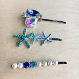 Ocean Gem Hair Pins