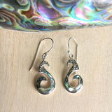 Abalone Seahorse Swirl Earrings