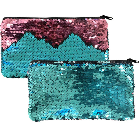Mermaid Scale Sequin Zip Bag