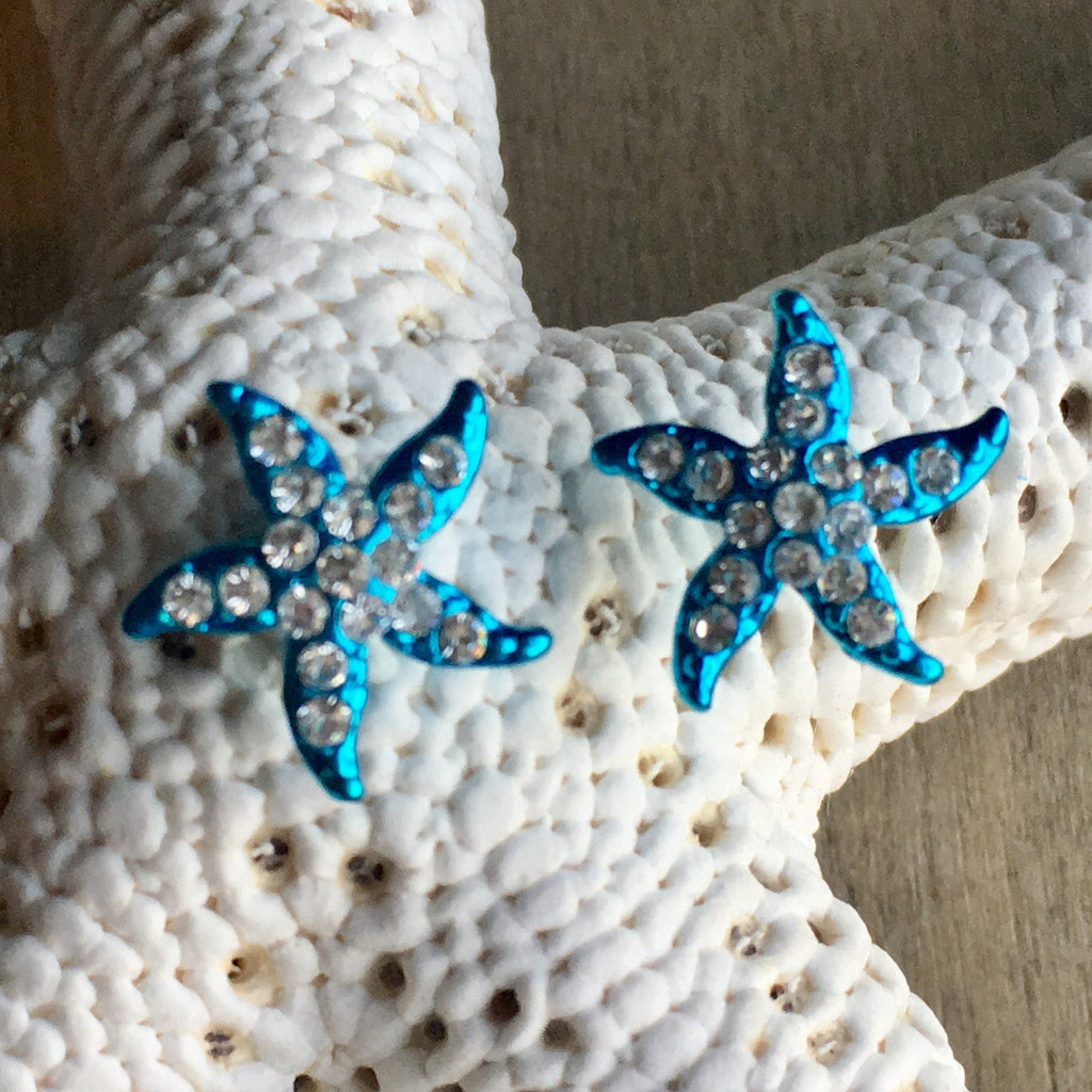 Starfish Sparkle Stud Earrings
