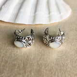 MOP Inlay Stud Earrings