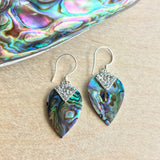 Abalone Leaf Emblem Earrings