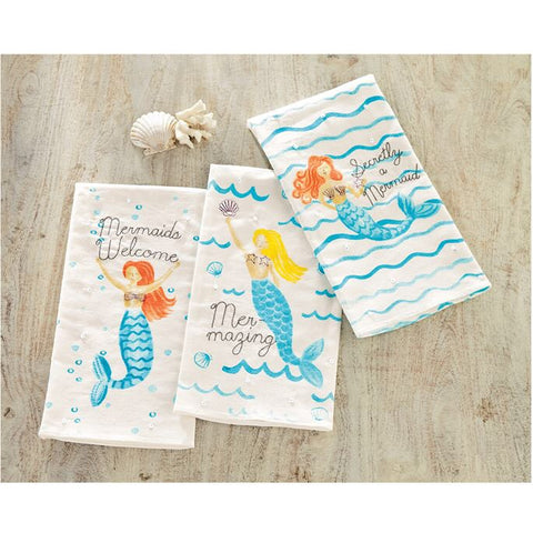 Mermaid Stitched Sequin Towel