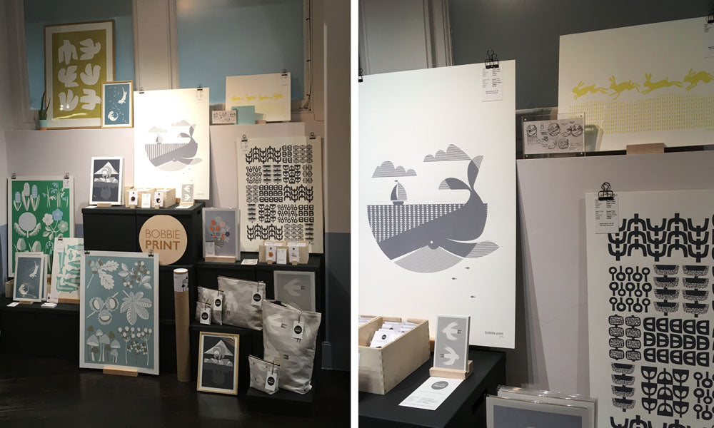 Bobbie Print stand at Clerkenwell Design Week 2018