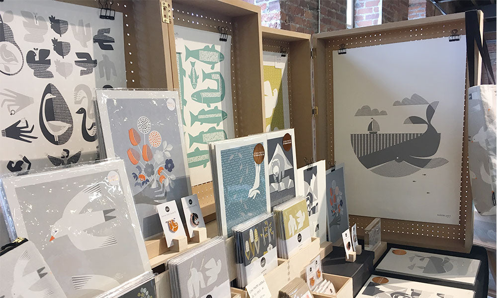 Bobbie Print Makers Stall at The Hepworth Wakefield Summer Fair 2018