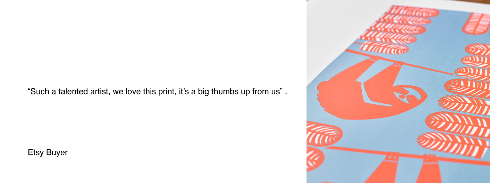 bobbie print summer sloth hand pulled screen print review