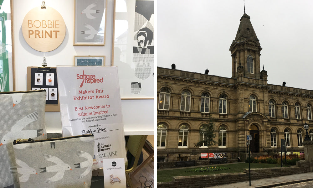 Bobbie Print awarded Best Newcomber Award in Saltaire