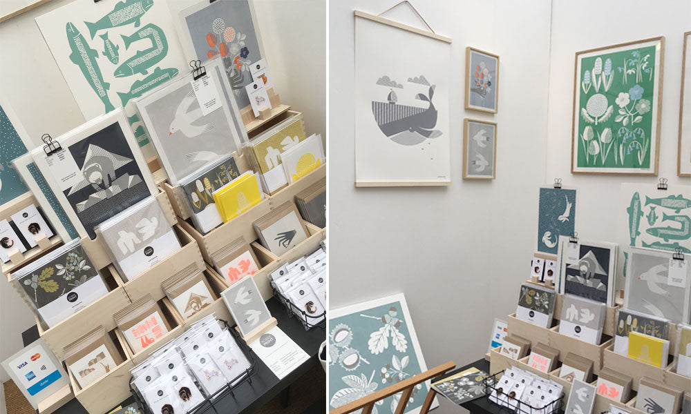 West Dean Arts and Craft Festival 2018 Bobbie Prints Stall