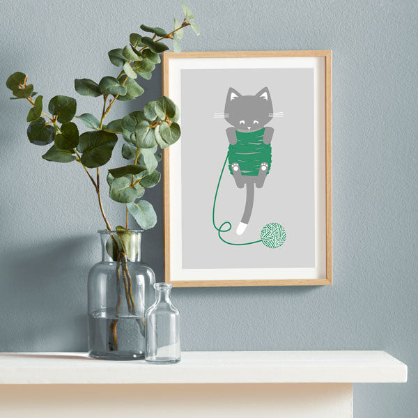 Knitty Kitty Print