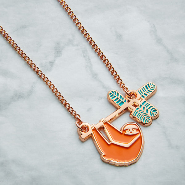 Summer Sloth Necklace