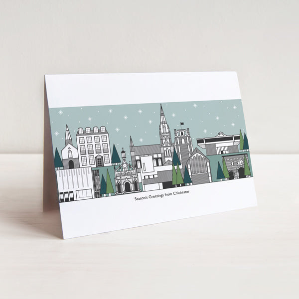 Chichester Cityscape Christmas Card