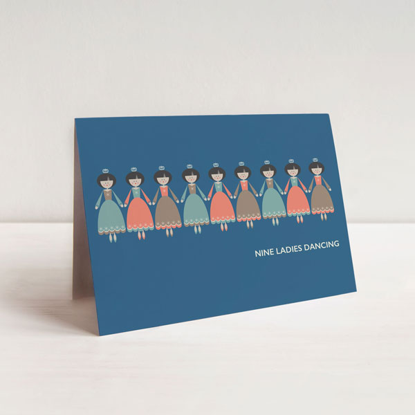 Nine Ladies Dancing Christmas Card
