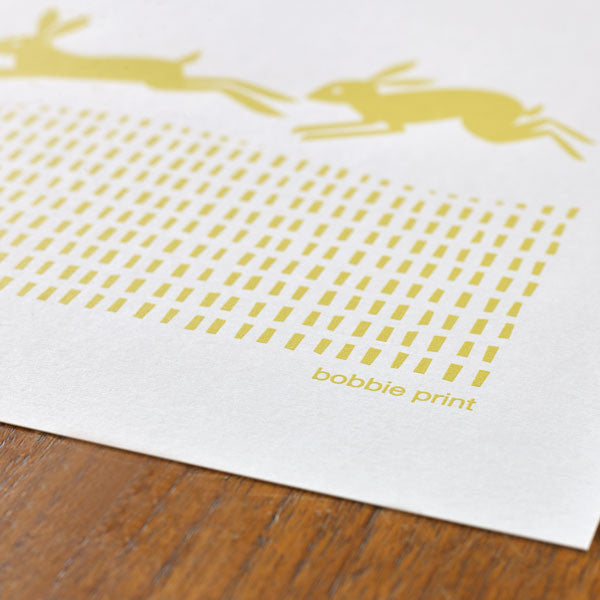 Drove of Hares Print