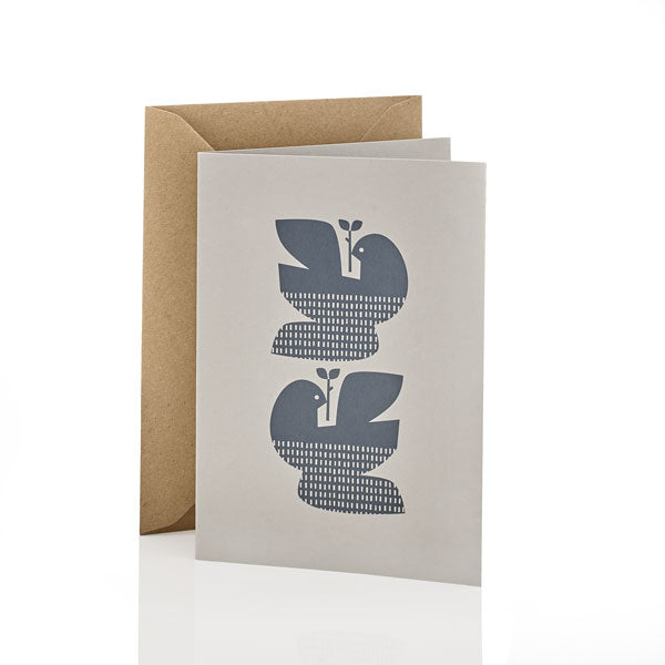 Turtle Doves Greeting Card