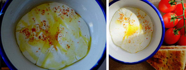 Soft cheese preparation with Olive Oil