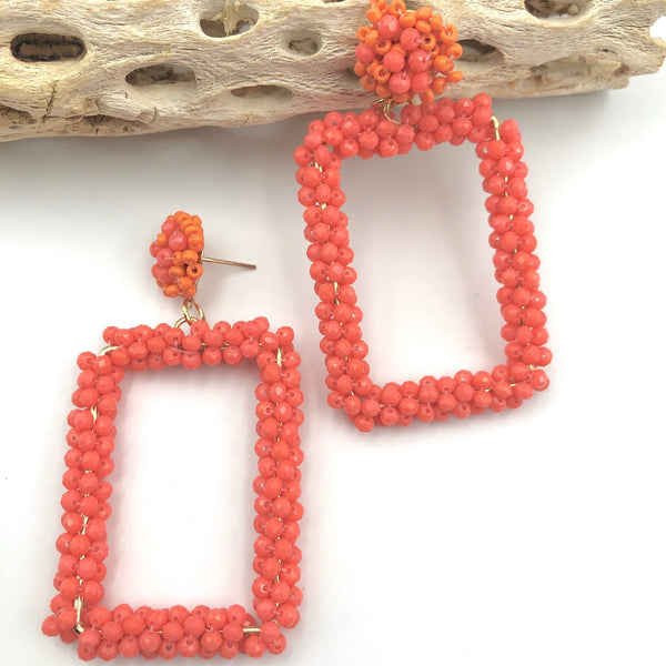 Beaded Rectangle Coral