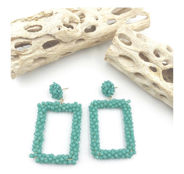 Beaded Rectangle Turquoise