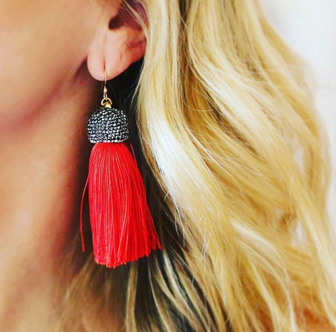 Red Jacqueline Tassels